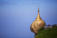 Golden rock pagoda Stock Photography