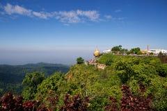 Golden rock pagoda Stock Image