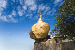 Golden rock pagoda Stock Photo