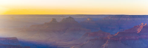 Golden Rocks of the Grand Canyon in Sunset Stock Photo