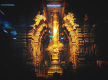 Golden rod in Hindu Temple Meenakshi Royalty Free Stock Image