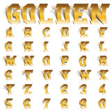 Golden roll font Stock Photo