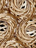 Golden rolls 2 Stock Image