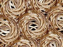 Golden rolls Stock Images