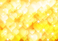 Golden romantic background of the bright lights. Abstract golden romantic background of the bright lights and star vector illustration
