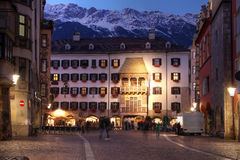 Golden Roof (Goldenes Dachl), Innsbruck, Austria. The symbol of Innsbruck, Austria, the Golden Roof (or in german Goldenes Dachl) is an oreil window added in royalty free stock photos