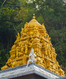 Golden roof on Indian temple in Batu Caves, Kuala Lumpur Stock Image