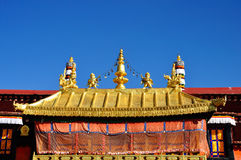 Golden Roof of Jokhang. Lhasa Tibet. Royalty Free Stock Photography