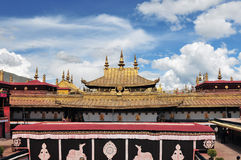 The golden roof of Jokhang Monastery in Lhasa Stock Photo