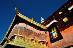 Golden Roof of Jokhang under blue sky Royalty Free Stock Images