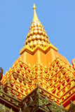 Golden roof that like pagoda of Pra-bart pavilion Stock Photos