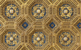 Golden roof in Palazzo Vecchio. Golden renaissance ceiling pattern in Palazzo Vecchio in Firenze (Florence), Italy. Useful file for your article, flyer and site royalty free stock photo