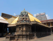 Golden Roof, Shiva Temple, Chidambaram, Tamil Nadu, India Royalty Free Stock Photo