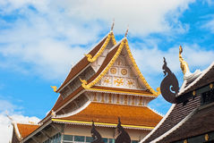 Golden roof. In Thailand temple Royalty Free Stock Photos