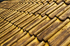 Golden roof tiles Royalty Free Stock Photography