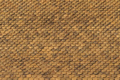 Golden Roof Tiles Pattern Stock Photography
