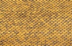 Golden Roof Tiles Pattern Stock Photo