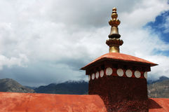 Golden roofs of a famous lamasery Royalty Free Stock Photos