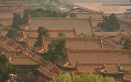 Golden roofs in the mist Royalty Free Stock Photography