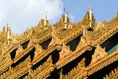 Golden roofs of the Shwedagon Pagoda in Yangon Stock Image