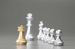 Golden Rook chess Stock Photo