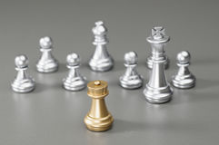 Golden Rook chess Royalty Free Stock Photo
