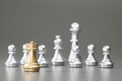 Golden Rook chess Royalty Free Stock Image