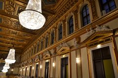 The golden room in the concert house of Vienna Stock Photography