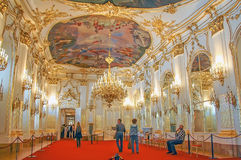 Golden room, The Schonbrunn Palace Royalty Free Stock Photo