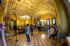 Golden room in the State Hermitage, a museum of art and culture Stock Image