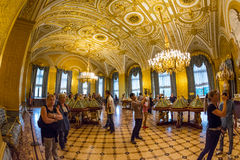 Golden room in the State Hermitage, a museum of art and culture Royalty Free Stock Photo