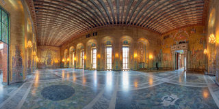 Golden room of Stockholm city hall Royalty Free Stock Photography