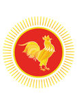 Golden rooster Stock Photography