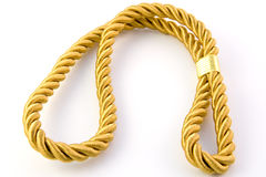 Golden rope Stock Image