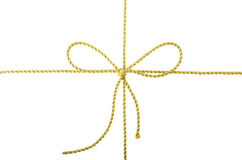Golden rope bow Stock Image