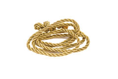 Golden rope Royalty Free Stock Images