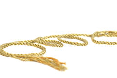 Golden rope Royalty Free Stock Photo