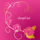 Golden and rose Royalty Free Stock Image