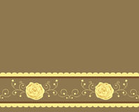 Golden rose background