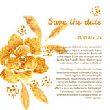 Golden Rose, hand-drawn flower Royalty Free Stock Images