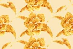 Golden Rose, hand-drawn flower Stock Photography