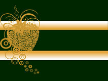 Golden roses hesrt. Vector illustration of a golden heart on a green background Royalty Free Stock Image
