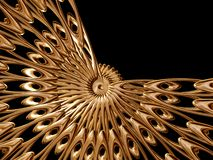 Golden rosette Royalty Free Stock Photo