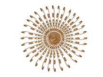 Golden rosette 5 Royalty Free Stock Image