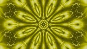 Golden rotating starlike looping animation. Golden rotating starlike swirl, kaleidoscopic seamlessly looping flame fractal animation stock illustration