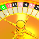 Golden roulette Stock Photo