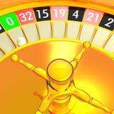 Golden roulette Stock Photo
