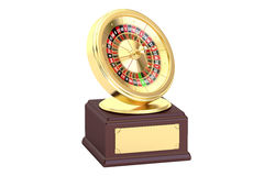 Golden Roulette Award concept, 3D rendering Royalty Free Stock Images