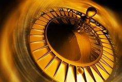 Golden roulette concept stock photography