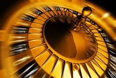 Golden roulette concept royalty free stock image
